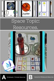Space Topic special education worksheets blog