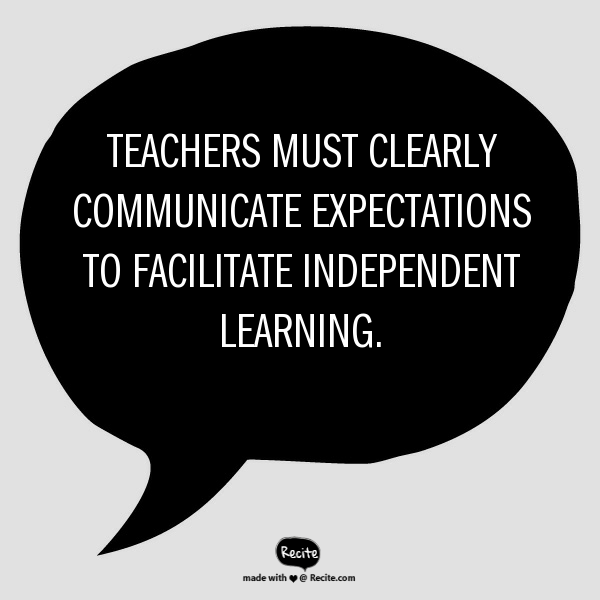 teachers independent learning quote
