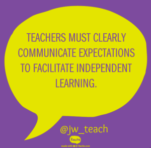 teachers independent learning quote recite