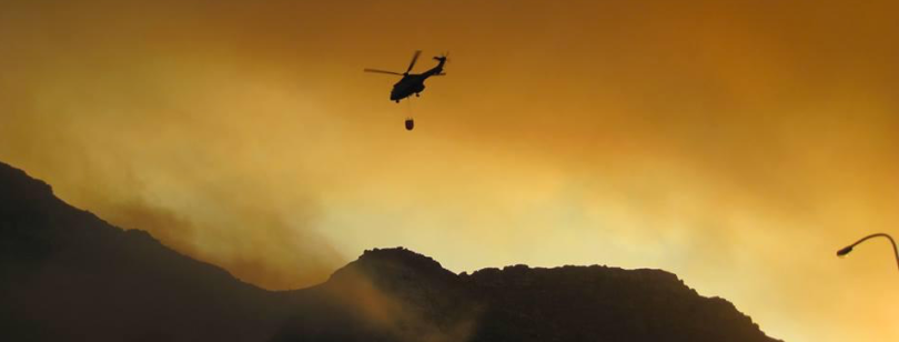 Helicopter fire