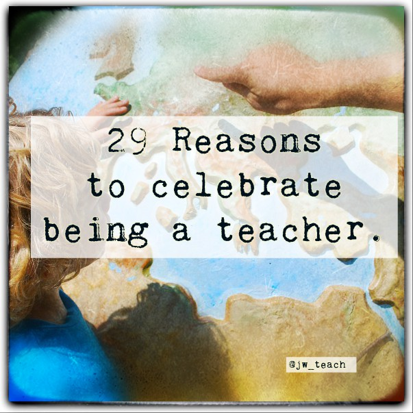 reason to be a teacher A: good reasons to become a teacher include experiencing the joy of making a difference, having a true vocation and experiencing a high level of interpersonal interaction, according to the university of north carolina at chapel hill moreover, teachers enjoy a great deal of variety in their work, and they become lifelong learners.