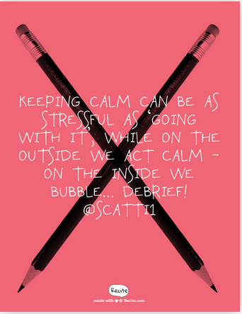 calm debrief behaviour quote