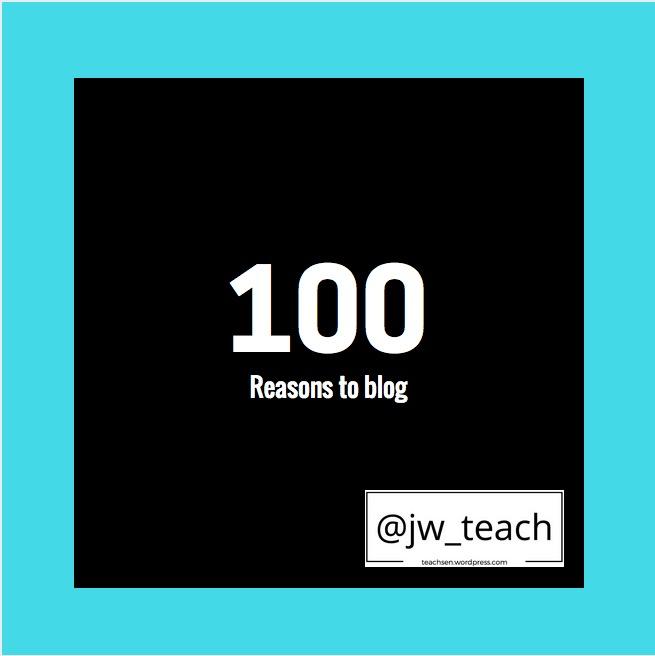 100 reasons to blog