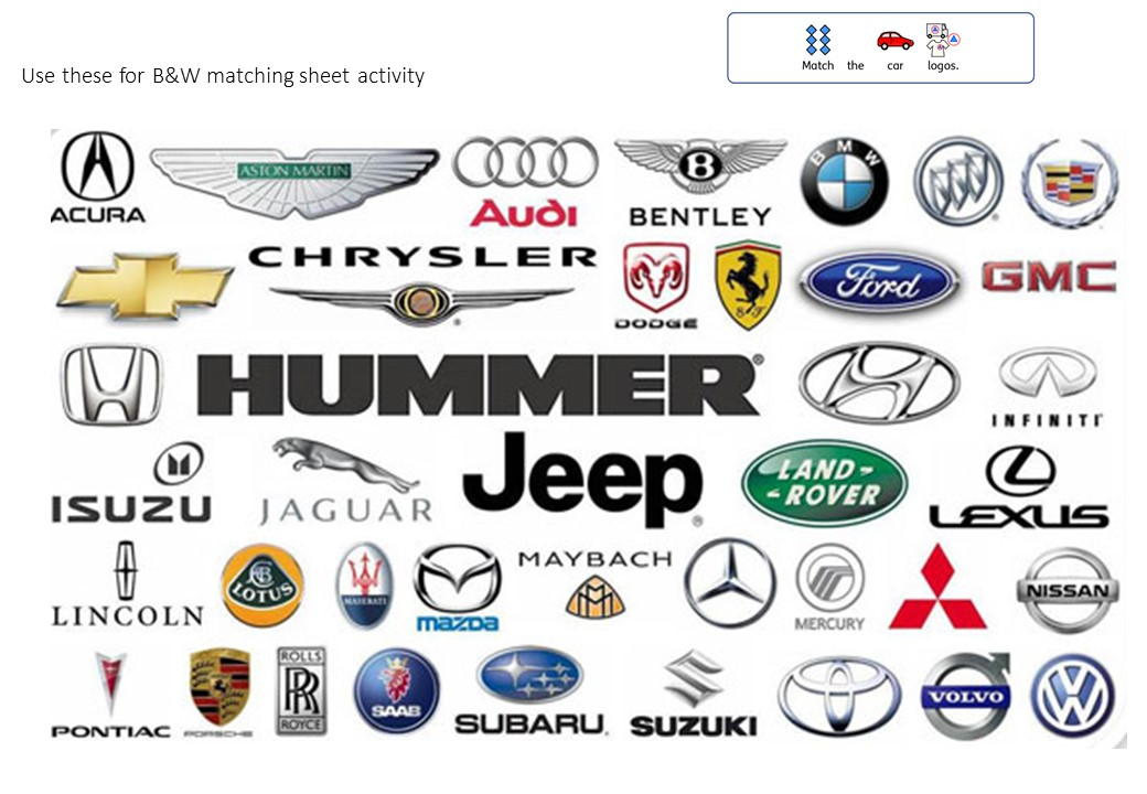 car-logos-transport-worksheet – Special Needs Teaching and Education