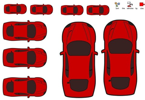 size-transport-worksheet-cars