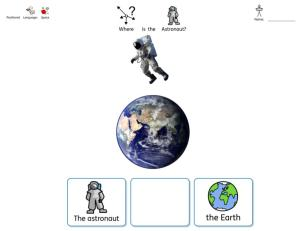 Space Positional Language free Worksheets earth example image