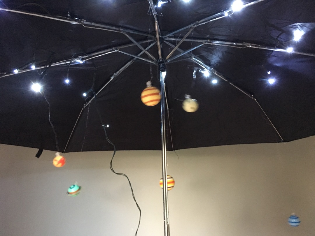 space planets sensory umbrella