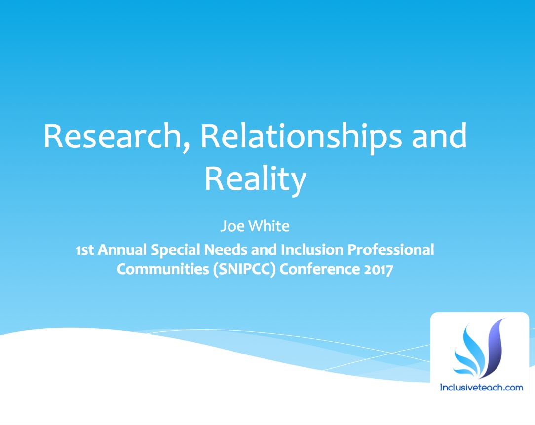 Research, Relationships and Reality.