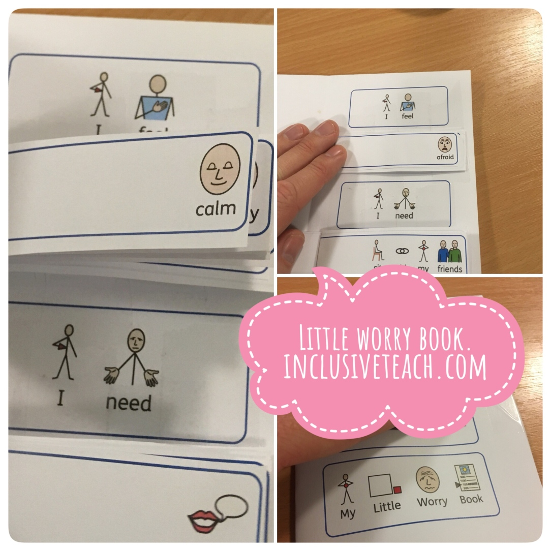 Little worry book emotional regulation strategy autism