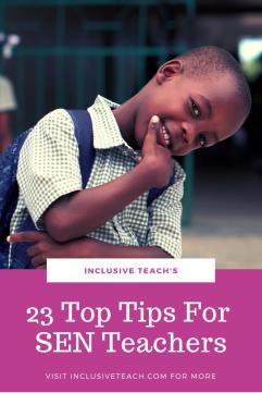Pinterest graphic - Top Tips for SEND teachers