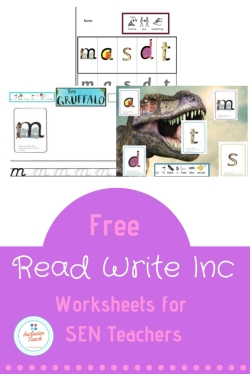 Promo for free read write Inc SEN downloads Phonics