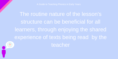 EYFS and Phonics teaching routine quote