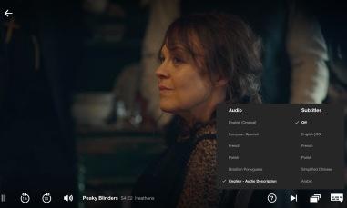 Making Netflix into audionbook
